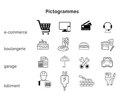 Pictogramme e-commerce Confitacom Agence de communication Montaigu Vendée