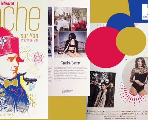 Photomontage réseaux sociaux boutique Tendre secret