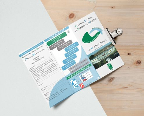 Flyer Comité de Soutien des Usagers de l'Hôpital de Montaigu Vendée