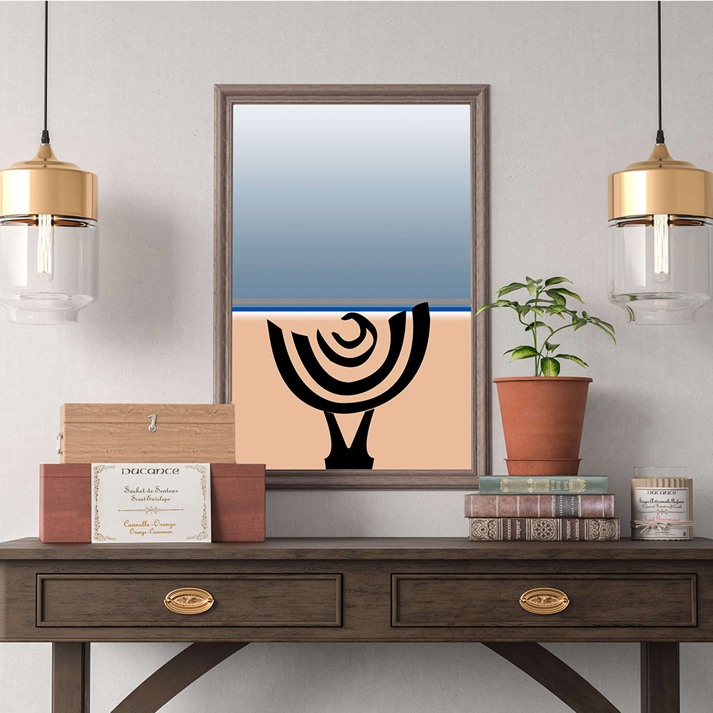 Illustration Femme bord de mer Confitacom Agence de communication Montaigu vendée