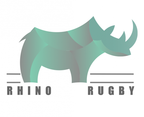 Logo Illustration vectorielle rhino rugby Confitacom Montaigu Vendée
