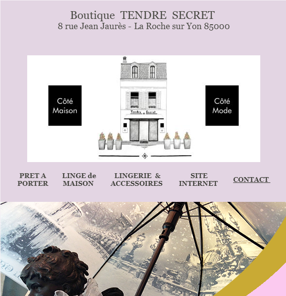 Newsletter Boutique Tendre Secret