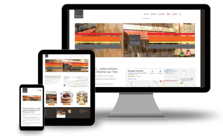 Création Site Internet Boulangerie Tenaud Confitacom Montaigu Vendée